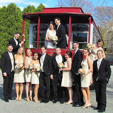 South County Trolley Wedding Party